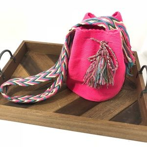 Neon Pink Boho Bag